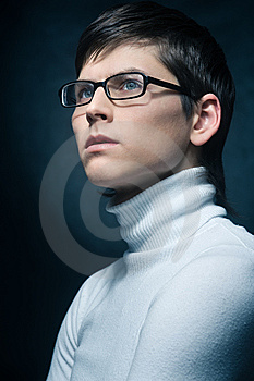 Young Man In Glasses Stock Images - Image: 13550994