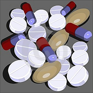 Pills Set  In Color 01 Royalty Free Stock Images - Image: 13553469