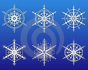 Snowflake Icon Set Stock Images - Image: 13553744