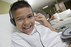 Boy Listening To Music Stock Photography - Image: 13553952