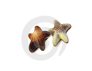 Two Chocolate Stars. Stock Images - Image: 13554184