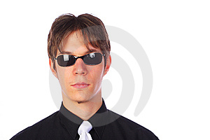 Portrait Of A Young Businessman, Isolated On White Royalty Free Stock Photos - Image: 13555158