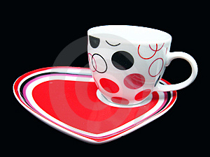 Cup On DEsigner Saucer Stock Photography - Image: 13555342
