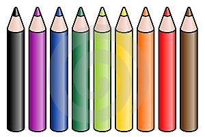 Colored Pencils Stock Images - Image: 13556894