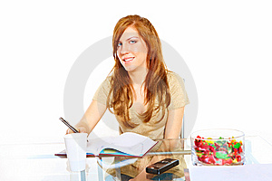 Student Girl With Notebook Stock Photography - Image: 13559662