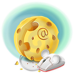 Abstract Illustration Of A Cheese As A Computer A Stock Image - Image: 13561411