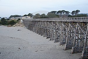 Wooden Bridge Over Beach Stock Images - Image: 13561854