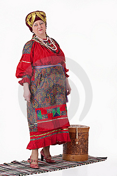 Woman In Russian Traditional Clothing Royalty Free Stock Images - Image: 13562139