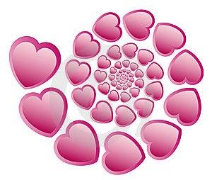 Heart Spiry Pattern Royalty Free Stock Photo - Image: 13564685