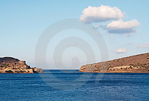 View Of Spinalonga Island In Crete. Stock Images - Image: 13567154