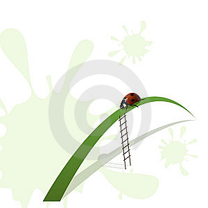 Ladybird And Stairway Royalty Free Stock Photos - Image: 13569168