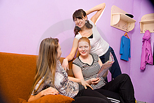 Girls In The Common Room Fitness Center Stock Photos - Image: 13569343