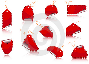 Set Of Sticker Royalty Free Stock Photo - Image: 13570695