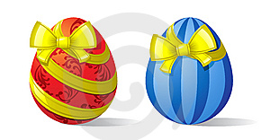 Eggs-and-ribbons Stock Images - Image: 13571064