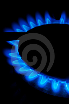 Flames From A Gas Stove Royalty Free Stock Photography - Image: 13571487