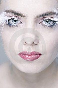 Woman With Long Eyelashes Stock Photography - Image: 13571522