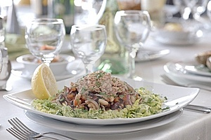 Plate Of Tuna Salad Stock Image - Image: 13572731