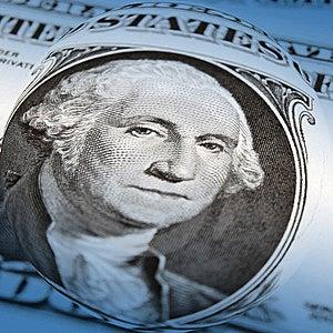 Distorted Dollar Bill Royalty Free Stock Photos - Image: 13573638