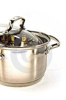 Metallic Stew Pan Royalty Free Stock Image - Image: 13573796