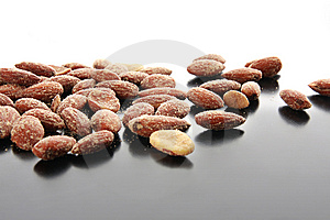 Salty Almonds Royalty Free Stock Photos - Image: 13576378