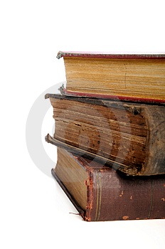 Vintage Books In A Pile Stock Image - Image: 13577501