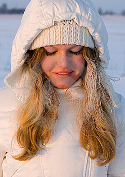 Beautiful Girl In Snow Royalty Free Stock Photo - Image: 13580405