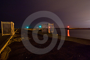 Harbour At Night 1 Royalty Free Stock Photos - Image: 13581648