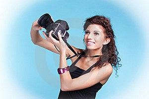 Girl Photographer Stock Photography - Image: 13581732