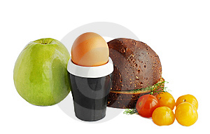 Bread,egg And Apple Stock Image - Image: 13583481