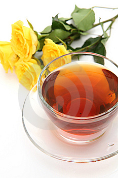 Tea And Yellow Roses Stock Image - Image: 13583771