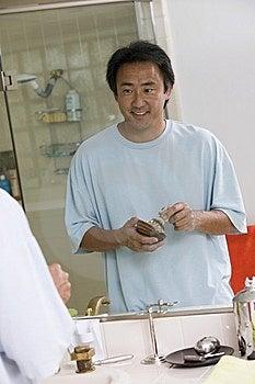 Mirror Reflection Of Man Stock Photo - Image: 13583890