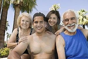Senior Couple And Mid-adult Couple Stock Photo - Image: 13584010