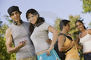 Two Young Couples Outdoors. Stock Photos - Image: 13584093