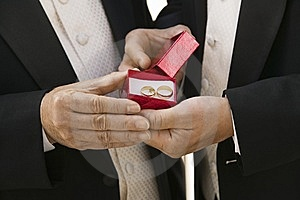 Groom And Father Holding Wedding Rings Stock Image - Image: 13584191