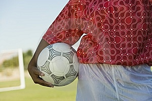 Girl (13-17) Holding Soccer Ball Royalty Free Stock Photography - Image: 13584687