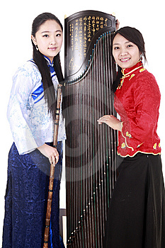 Chinese Female Musicians Stock Images - Image: 13586044