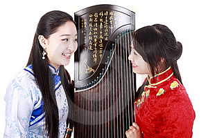 Chinese Musicians Royalty Free Stock Images - Image: 13587059