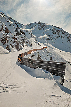 Downhill Ski Trail. Stock Images - Image: 13587814