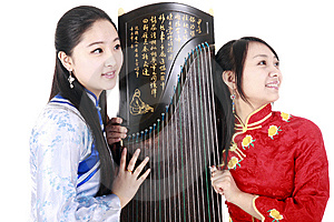 Chinese Female Musicians Stock Photo - Image: 13589540