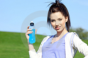 Fitness Girl In Park. Stock Photography - Image: 13590302
