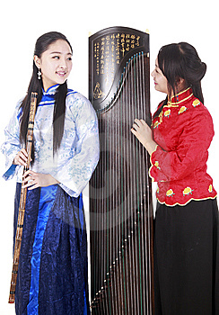 Chinese Musicians Royalty Free Stock Photography - Image: 13590857