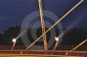 Lights Of A New Bridge Stock Image - Image: 13590921