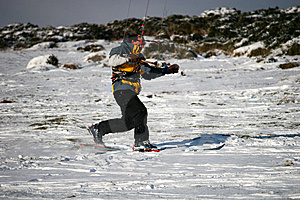 Kite Skiier Royalty Free Stock Photos - Image: 13591818