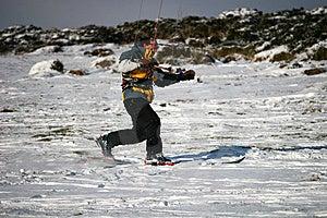 Kite Skiier Royalty Free Stock Photos - Image: 13591818