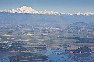 Skagit Valley Aerial View Royalty Free Stock Photography - Image: 13592317