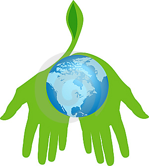Hands Holding World For A Greener Place Royalty Free Stock Image - Image: 13592906