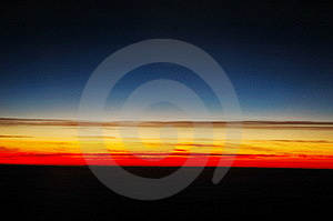 Sunset Above Clouds Royalty Free Stock Photography - Image: 13593227