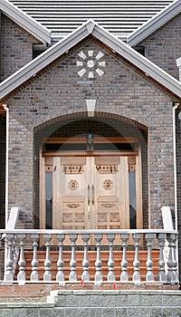 Front Door Home Copper Stock Image - Image: 13595391