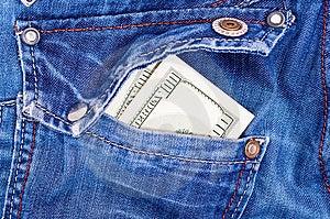 USA Money In Back Pocket Stock Images - Image: 13596694