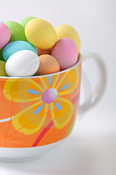 Colored Easter Eggs In A Cup Royalty Free Stock Photo - Image: 13597645